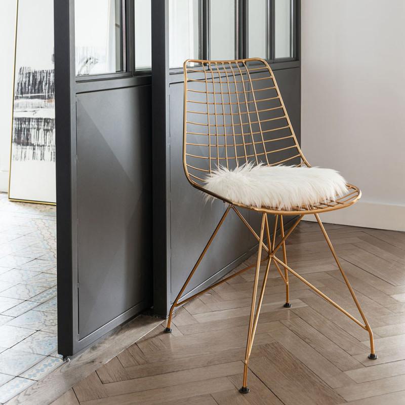 Chaise design dorée - Carlo