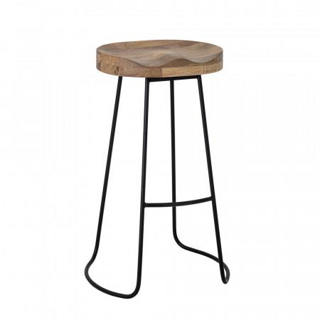 Tabouret de bar en bois et métal design Bloomingville - Vany