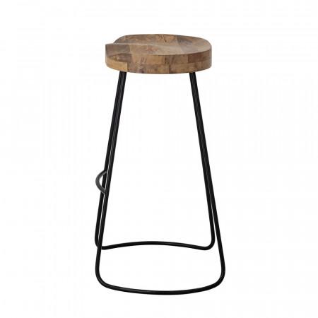 Tabouret de bar design en bois et métal Bloomingville - Vany