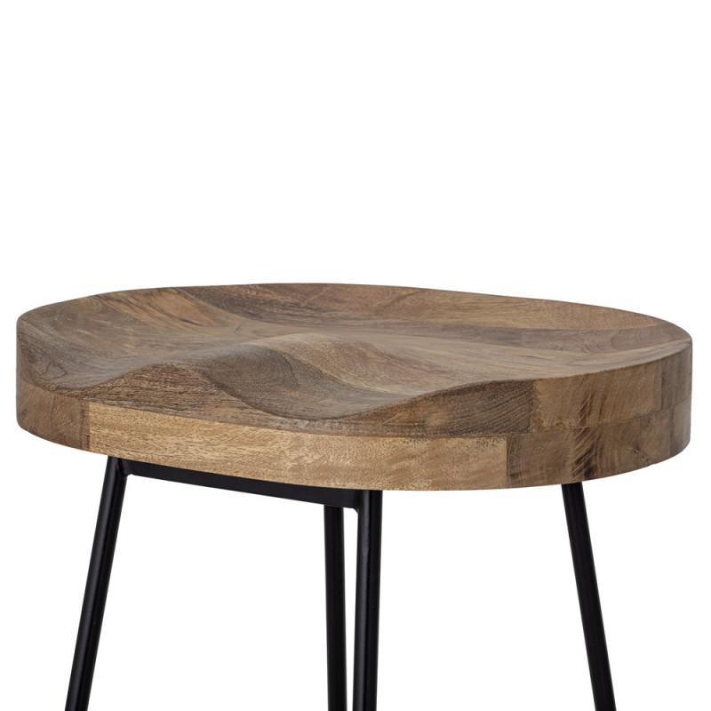 Tabouret de bar design bois et métal Bloomingville - Vany