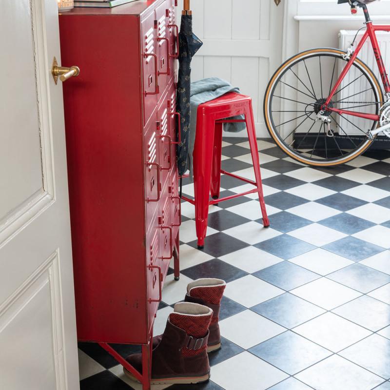 Petit meuble d'atelier en métal rouge 9 casiers - Ria