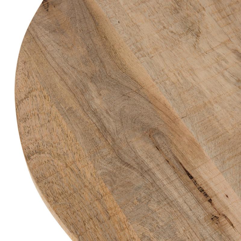 Table bistrot ronde en bois et métal - Leni