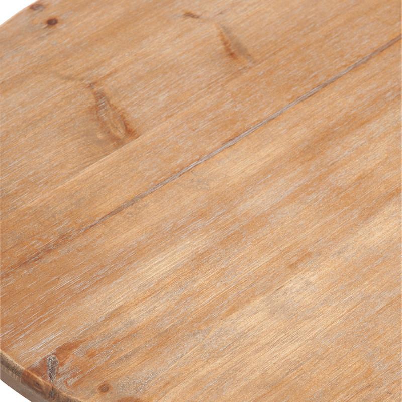 Table bistrot ronde en bois et métal noir industrielle - Bisto