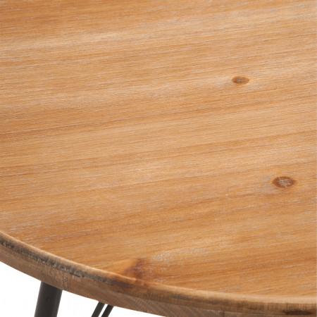 Table bar bois et métal noir industriel - Bisto