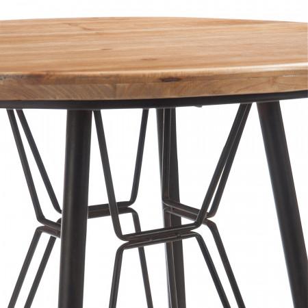 Table bar en bois et métal noir industriel - Bisto