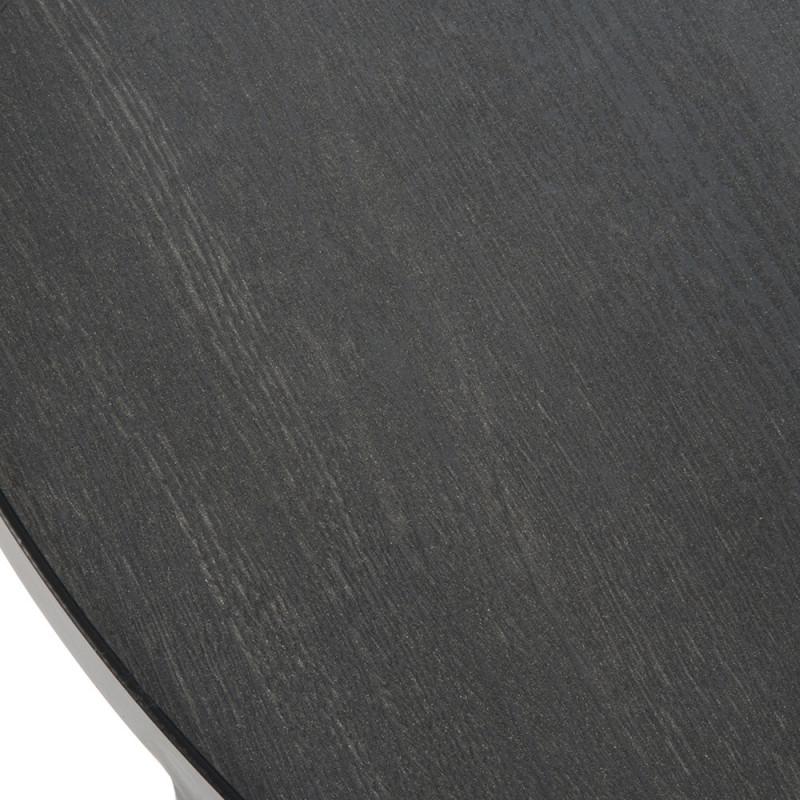 Petite table basse noire ronde design - Oba