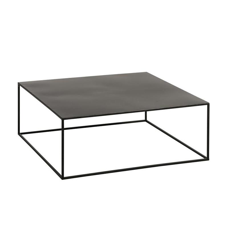 Table basse métal noir carrée - Salia