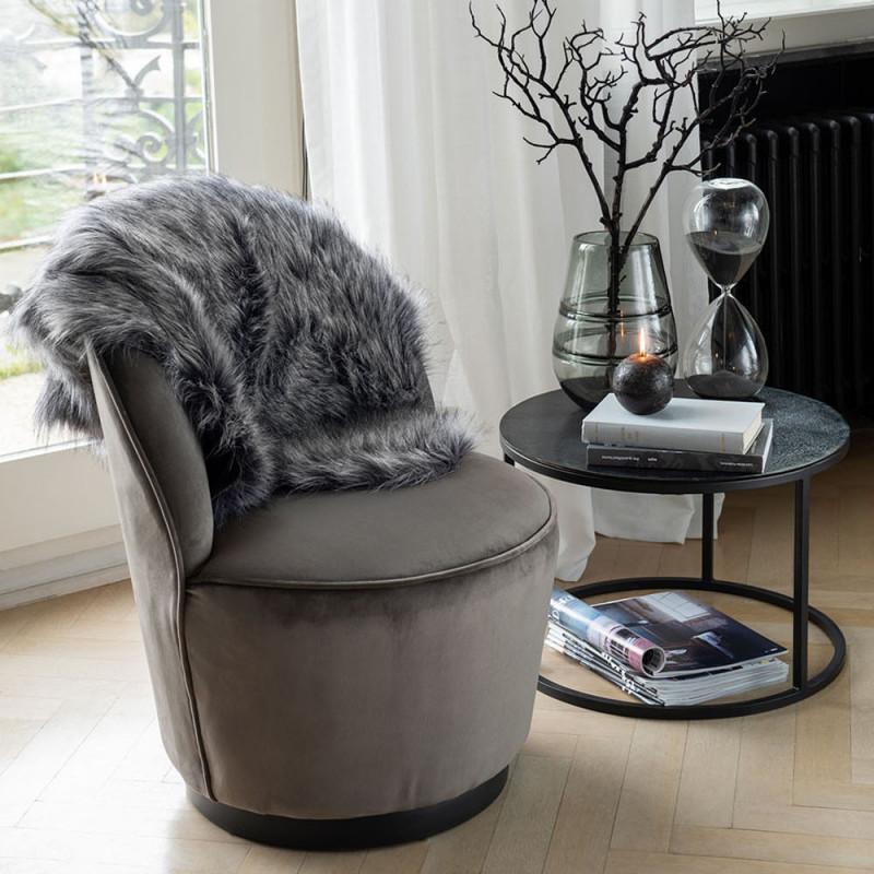 Table basse gigogne noir en métal - Cléo