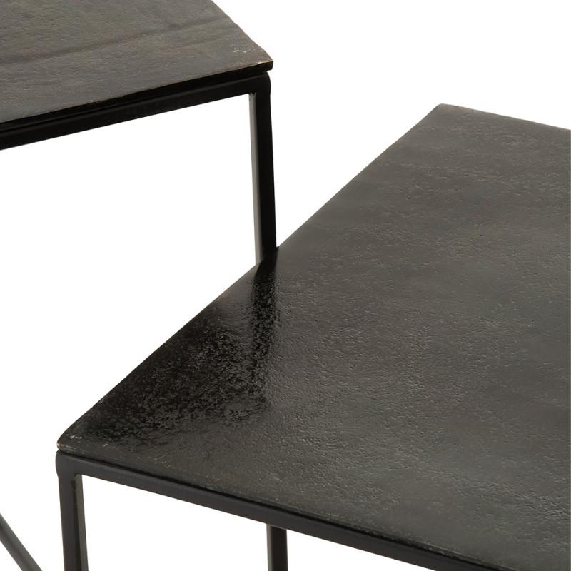 Table gigogne noir en métal - Salia