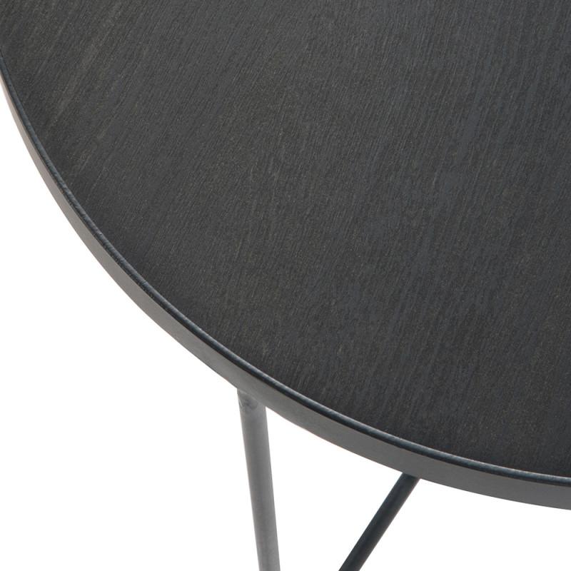 Table gigogne design noire - Oba
