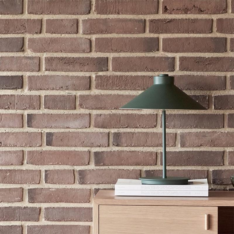 Lampe design verte kaki en métal - Anou