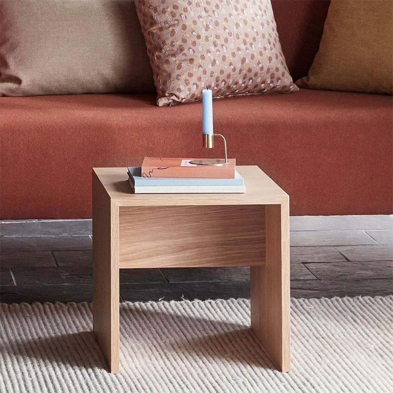 Bout de canapé en bois naturel design - Sine