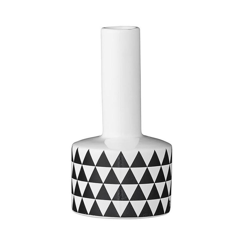 Vase design à motif géométrique blanc et noir Bloomingville - Cera