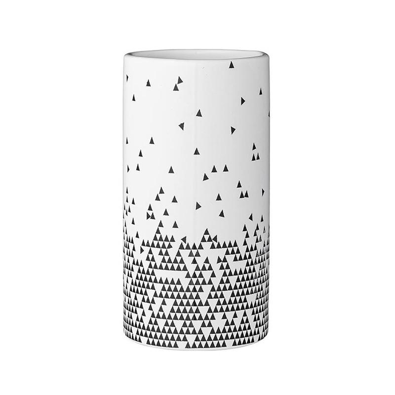 Vase motif géométrique noir et blanc Bloomingville - Cera