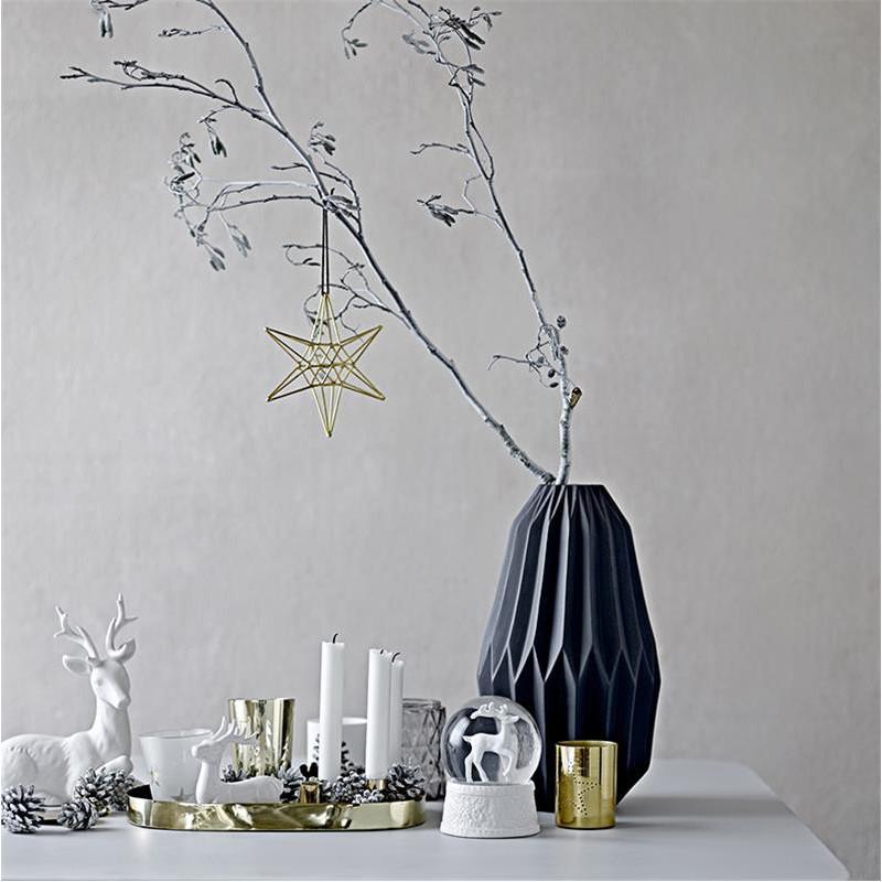 Vase gris géométrique Bloomingville - Fluted