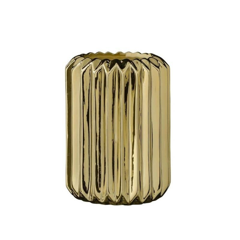 Vase doré géométrique design Bloomingville - Erode