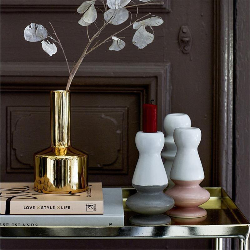Petit vase design doré Bloomingville - Cera