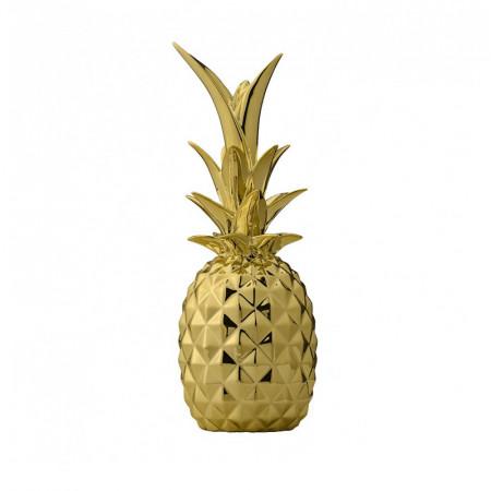 Ananas déco doré Bloomingville - Ananas