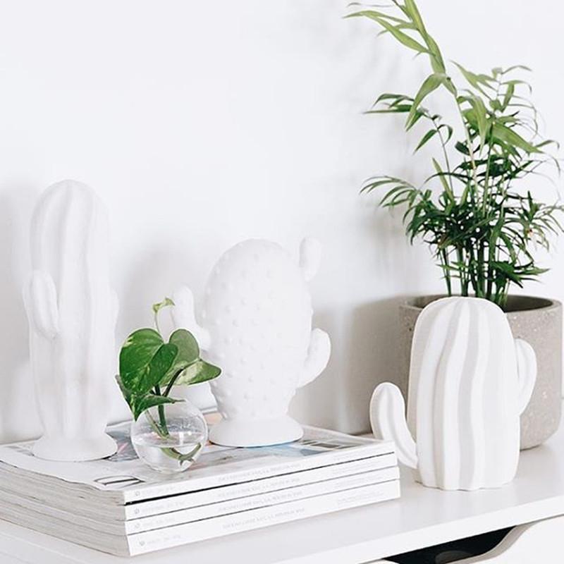 Décorations cactus blancs Bloomingville - Cactus