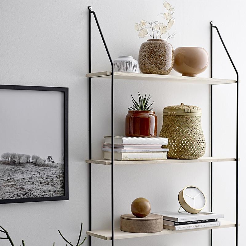 Petit vase déco rond en terre cuite blanc H 6,50cm - Terracotta