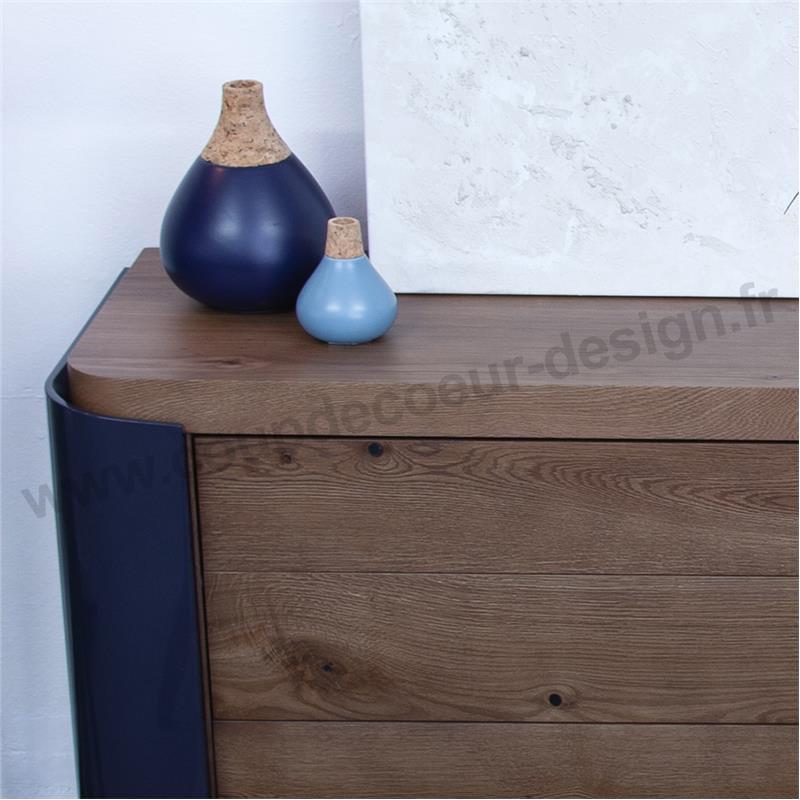 Petit vase bleu clair et liège scandinave - Ruben