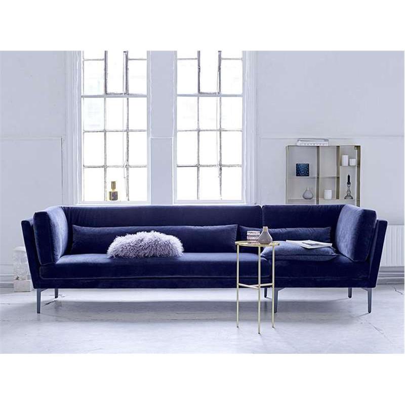 Canapé en velours bleu 3 places Bloomingville