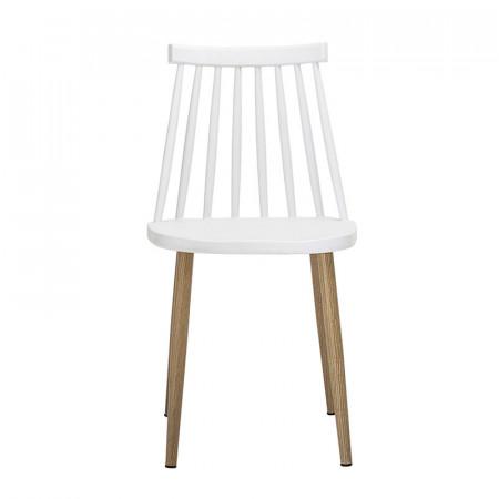 Chaise de jardin blanche design à barreaux Bloomingville