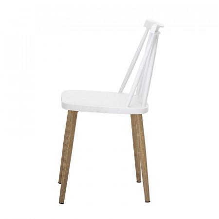 Chaise blanche de jardin design à barreaux Bloomingville