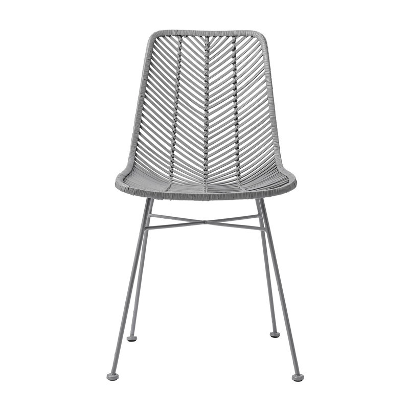 Chaise rotin gris design Bloomingville
