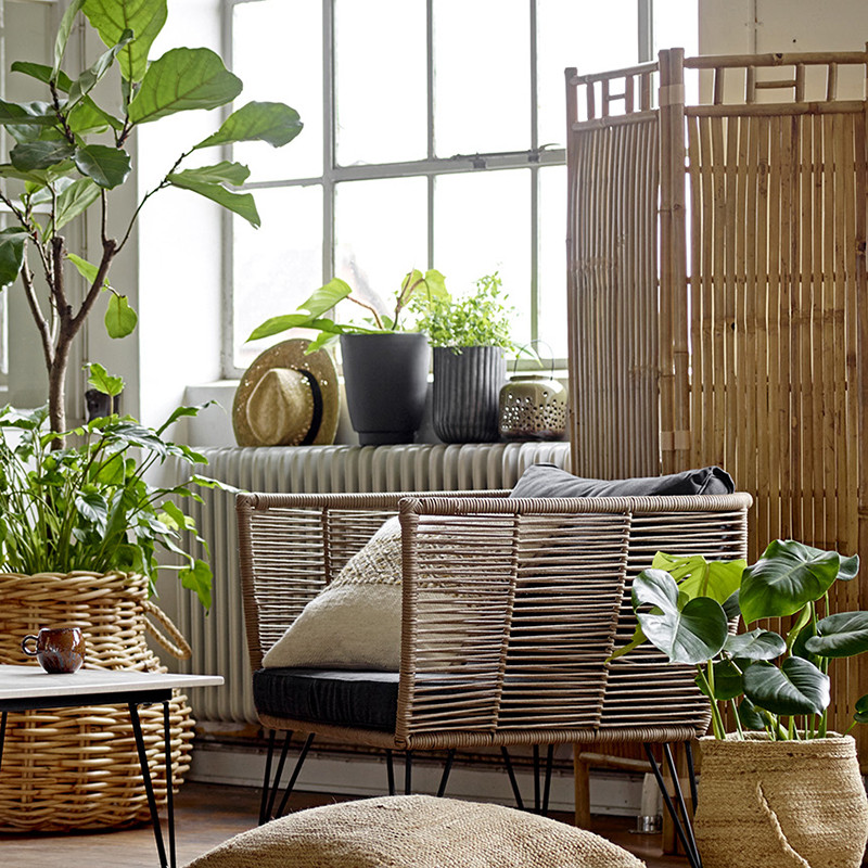 Fauteuil de jardin gris design confortable Bloomingville