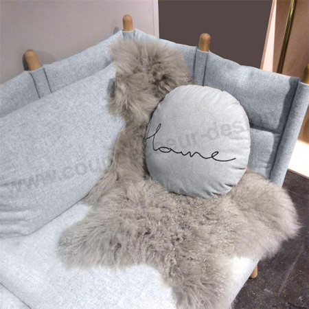 Coussin rond gris design Bloomingville - Home