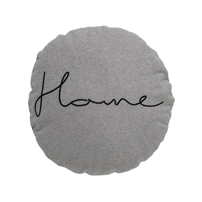 Coussin gris rond design Bloomingville - Home