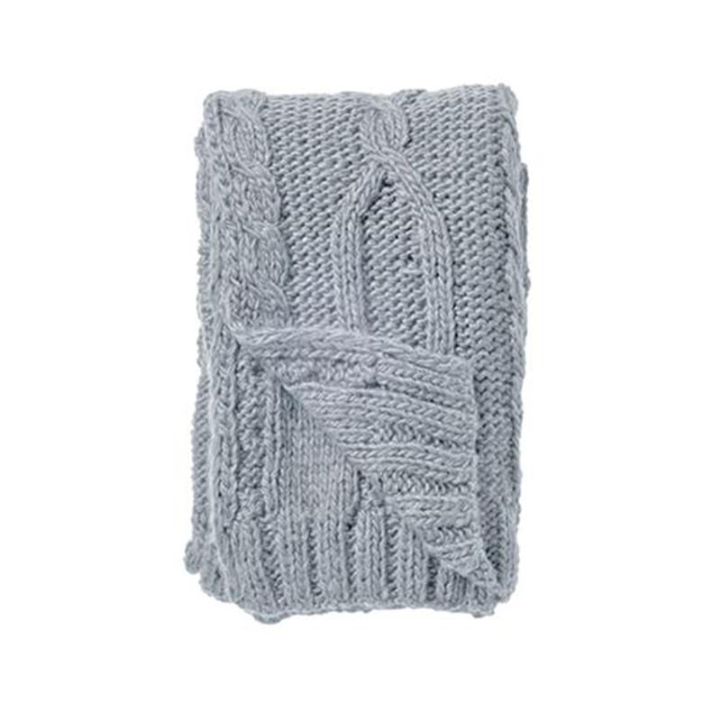 Plaid tricot bleu clair Bloomingville
