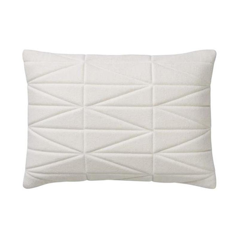 Coussin matelassé blanc design Bloomingville 60x40 - Cotton