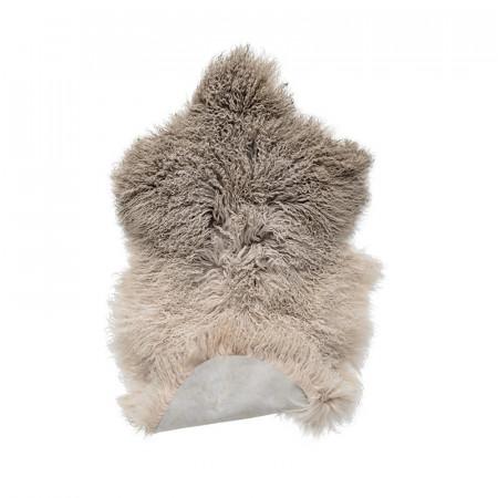 Tapis fourrure taupe Bloomingville 90x50 - Lamby