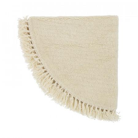 Tapis rond blanc à franges Bloomingville D110cm - Maëlie