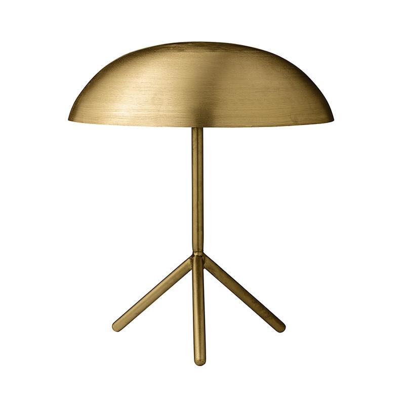 Lampe design en métal doré brossé Bloomingville
