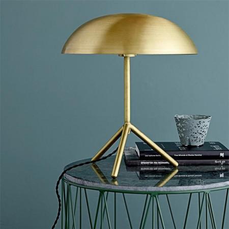 Lampe dorée design en métal brossé Bloomingville
