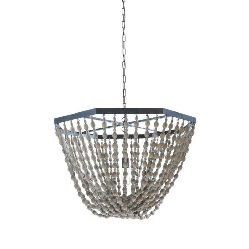 Lustre perles de bois design - Costa