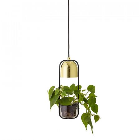Suspension luminaire avec plante Bloomingville doré