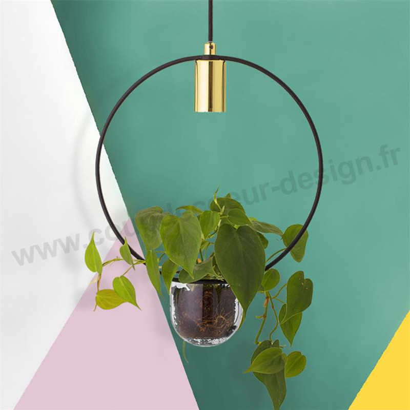 Suspension luminaire avec plante design Bloomingville