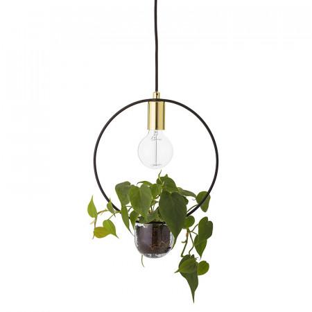 Lampe suspendue avec plante design Bloomingville