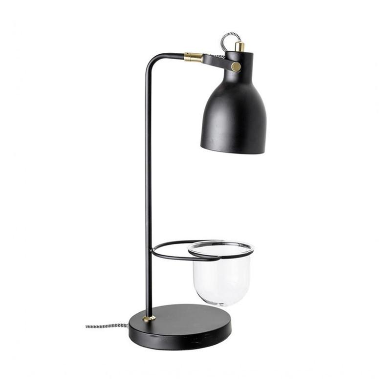 Lampe noire porte plante verte Bloomingville