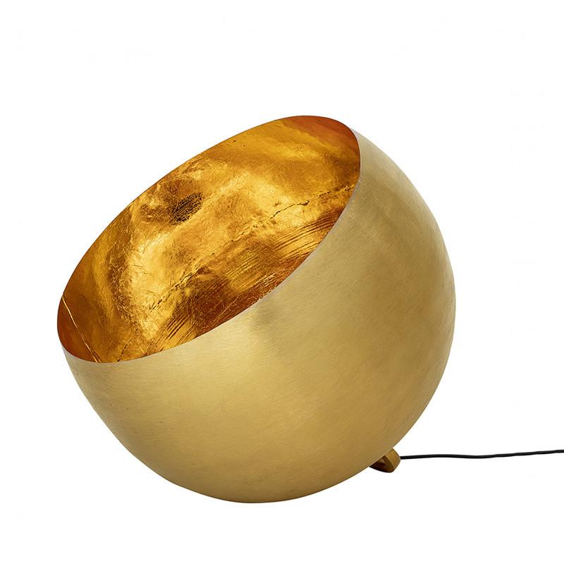 Lampe à poser au sol en métal doré design - Biot