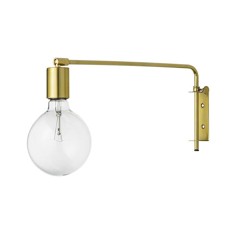 Applique murale dorée design pivotante avec ampoule Bloomingville