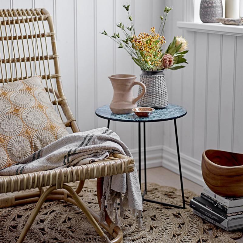 Chaise longue en rotin naturel avec repose pieds - Chili