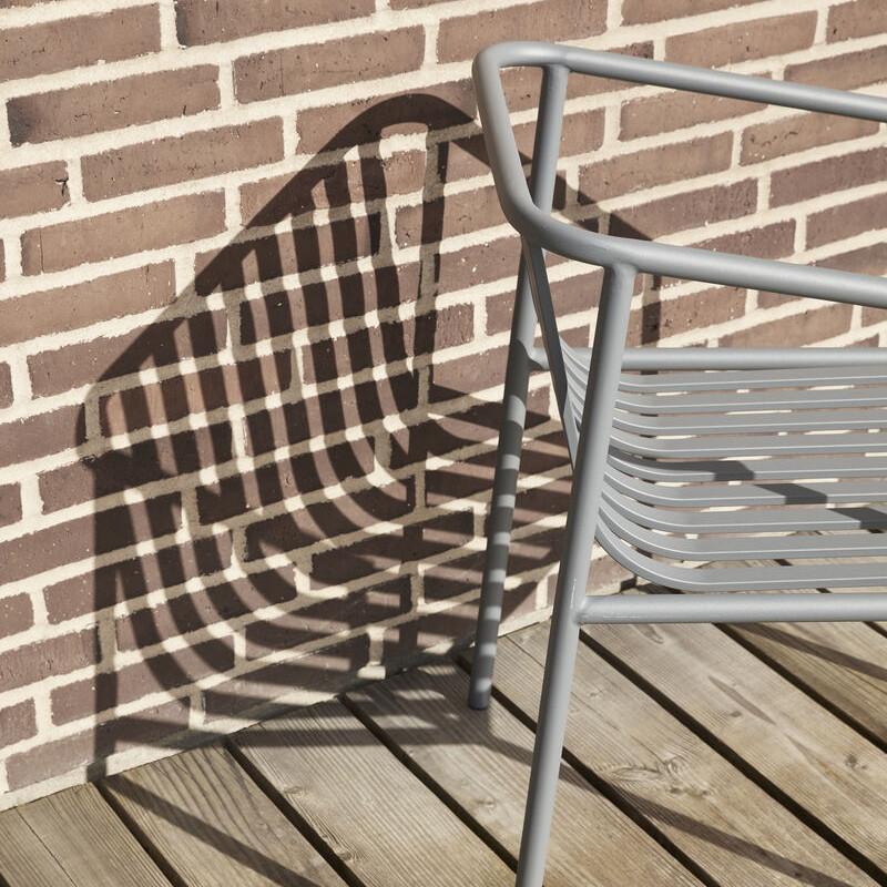 Chaise extérieur design en métal gris - Trévor