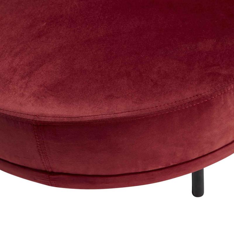 Pouf velours rouge design Hubsch - Pero