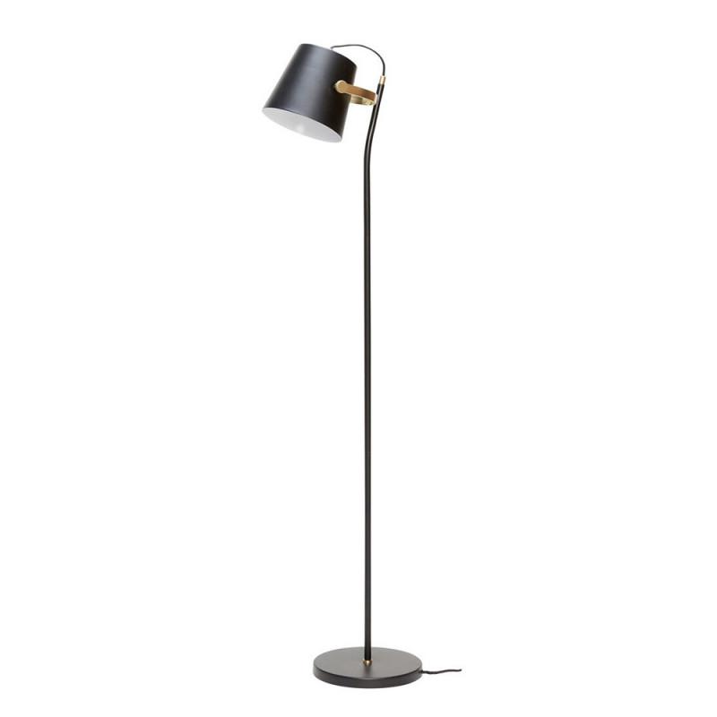 Lampadaire noir design doré Hubsch - Loire
