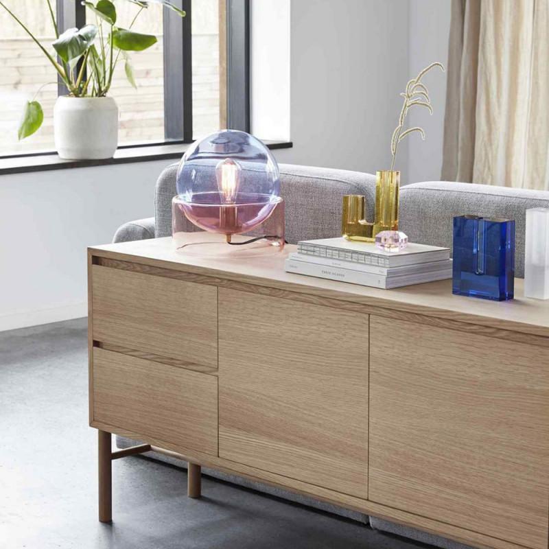 Lampe en verre coloré design Hubsch - Lemi